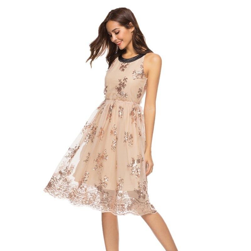 2536c5094 vestido lentejuelas elegante ropa mujer talla grande vestido brillante de  verano enterizos para mujer ofertas calientes