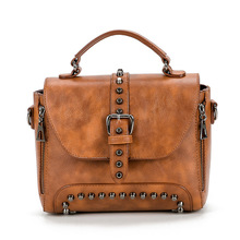 Handbag Crossbody Bags For Women 2020 Messenger Bag Vintage Rivet Small Leather Shoulder Bags Handbags sac a main bolsos mujer