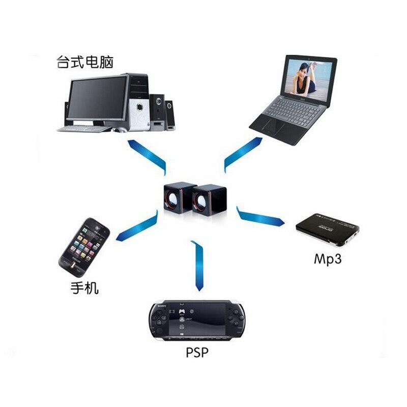 1 Para Mode USB 5 V Computer-lautsprecher Subwoofer 2,5 Watt + 2,5 Watt Ohm MP3 MP4 Digitalen Produkte Schwarz I schlüssel Kaufen