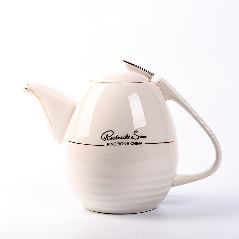 1100 мл Европейский стиль кофейник термостойкий керамический фарфор фильтр Чайная посуда/послеобеденный чай Молочный чайник - 6