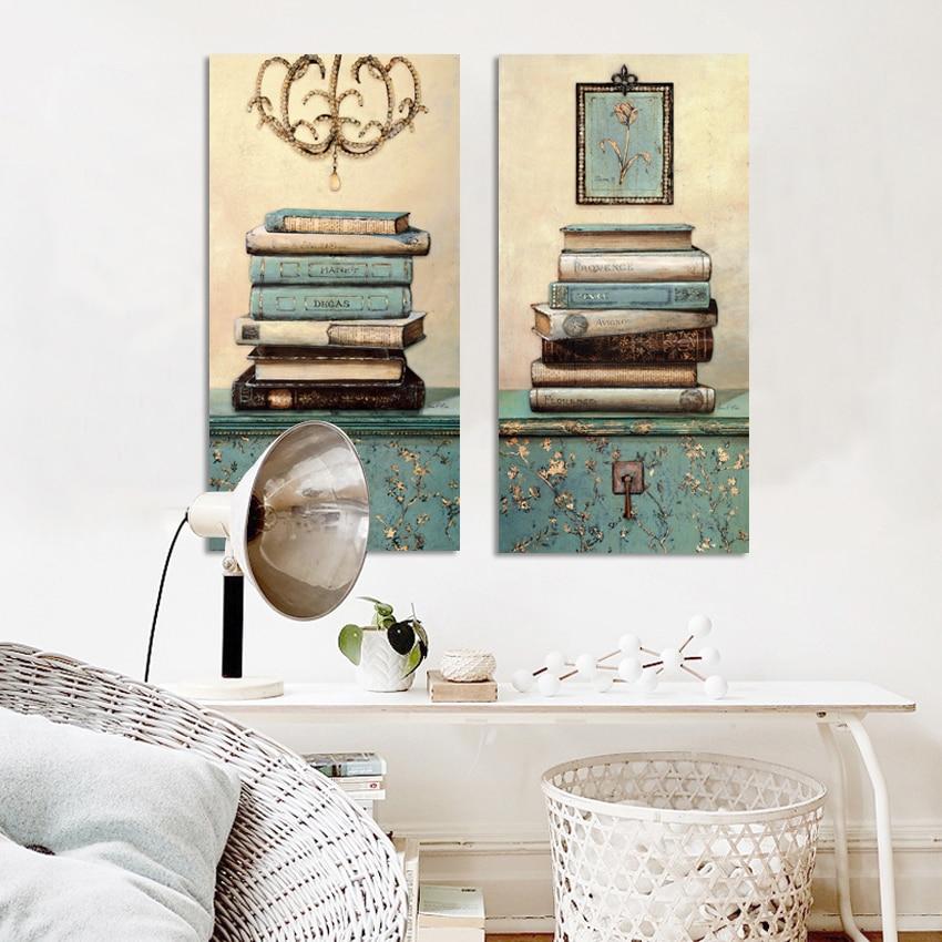 Vintage mrtvačka knjiga Slikarstvo na platnu Zid Umjetnost - Kućni dekor - Foto 3