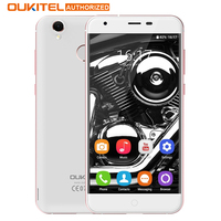 K7000 MTK6737 Oukitel originais Quad Core Android 6.0 Do Telefone Móvel 5.0 de Polegada de Telefone Celular 2G RAM 16G ROM 4G Desbloqueio smartphones