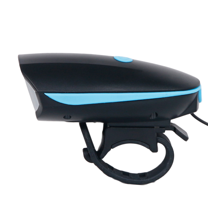 Cykellampa + Horn USB Laddare Bike Front Handlebar LED Lampa Lantern - Cykling - Foto 2