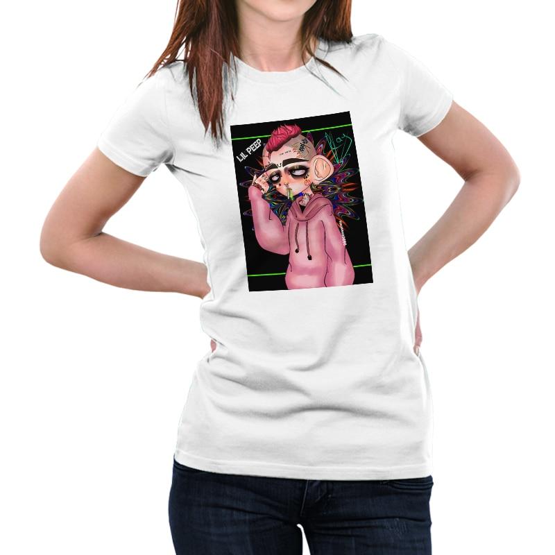 Lil Peep T Shirt Women Photography Round T-shirt  Tshirt Graphic Shirts Tee Kawaii Punk Style Tops