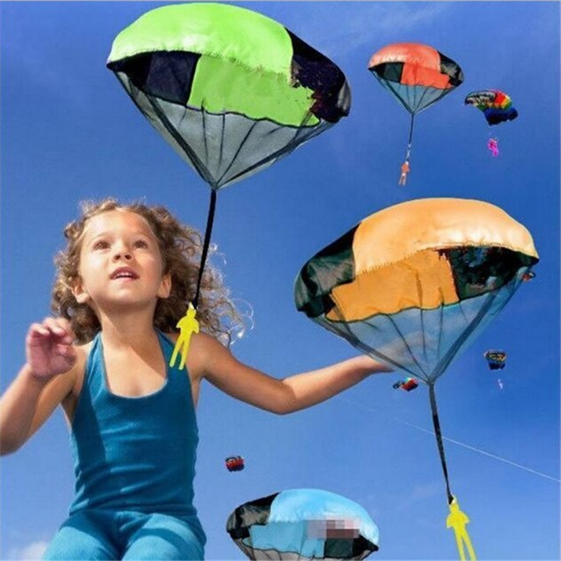 Kids Mini Parachute Toy Play Hand Throwing Soldier Outdoor Sports Game Educational Toys for Children