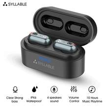 2019 New SYLLABLE S101 Bluetooth V5.0 TWS Earphone 10 hours True Wireless Stereo Earbud QCC3020 chip for SYLLABLE S101 Deep bass(China)