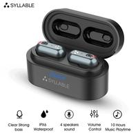2019 New SYLLABLE S101 Bluetooth V5.0 TWS Earphone 10 hours True Wireless Stereo Earbud QCC3020 chip for SYLLABLE S101 Deep bass