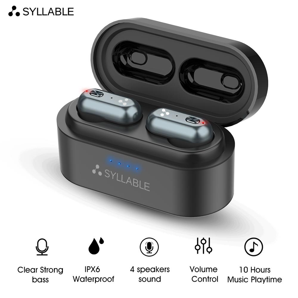 2019 New SYLLABLE S101 Bluetooth V5.0 <font><b>TWS</b></font> Earphone <font><b>10</b></font> hours True Wireless Stereo Earbud QCC3020 chip for SYLLABLE S101 Deep bass image