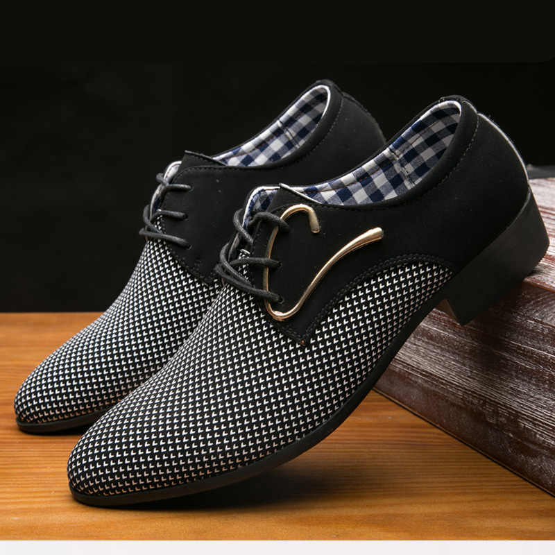 64d3eea1016 ... POLALI Office Men s Dress Suit Shoes Italian Style Wedding Casual Shoes  Derby Shoes Man Leather Shoes ...