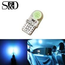 Авто T10 крутой Ледяной Синий 194 W5W 168 COB 8-SMD кварцевая Автомобильная светодиодный супер яркий Поворотный Светильник для номерного знака Лампа DC12V