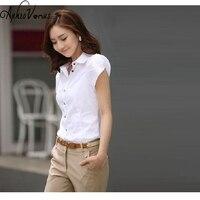 High Quality Fashion Womens short-Sleeve Chiffon Shirt Turn-Down Collar Casual Loose Female Tops Women Blouse