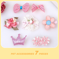 Pet Accessories Cat Hair Accessories Gift Package Head Flower Teddy Bossy Yorkshire Pet Dog Cat Accessories
