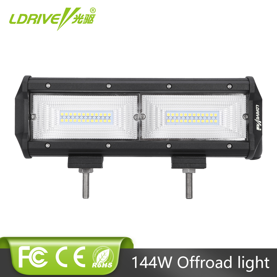 """9/"""" 23 cm 54 W Combo Beam DEL Light Bar IP68 Driving Light Off Road 4x4 Bateau 12-24 V"""