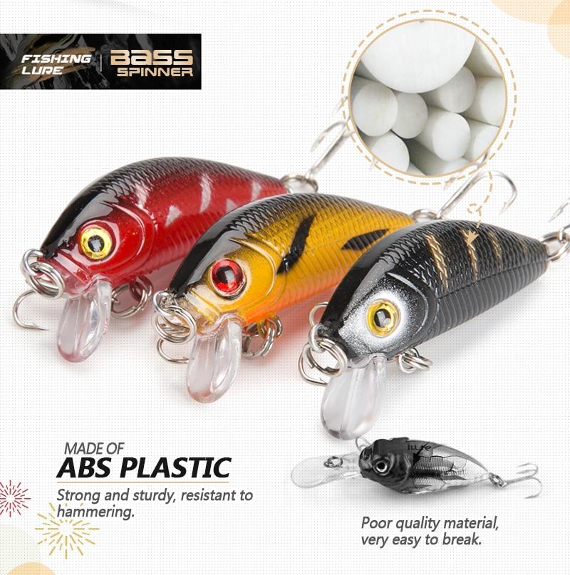 DONQL 8pcslot Minnow Wobblers Crankbait Fishing Lure 5cm 3.6g Artificial Swim Hard Bait Fishing Lures With Sharp Hooks Pesca (6)