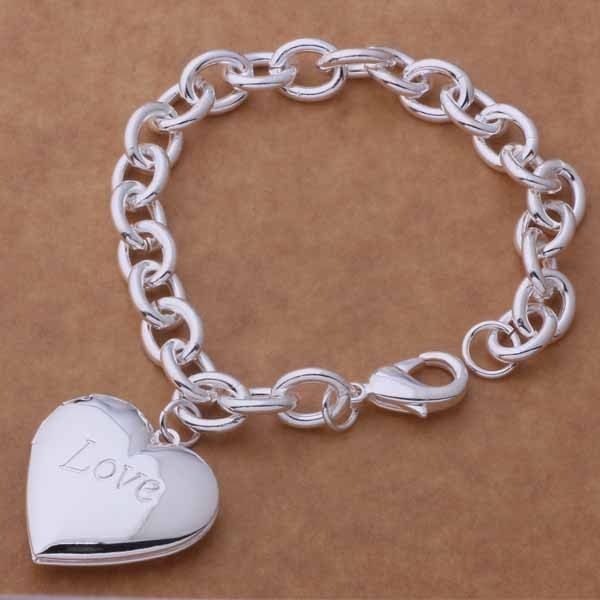 AH290 Hot sterling armband, sterling mode smycken love heart / - Märkessmycken