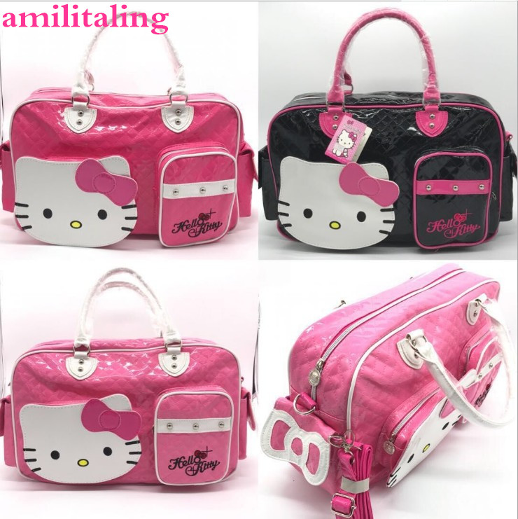 996d039a4710 New Hello kitty Large Handbag purse Travel Shopping tote Bag yey 2089-in  Shoulder Bags from Luggage   Bags on Aliexpress.com
