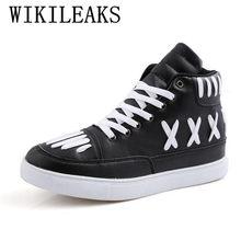 2018 zapatos de hombre zapatos de lujo banda zapatos casuales de alta  superior zapatos de baile de calle hip hop zapatos de cuer. cc6a6ab8596