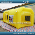 Free shipping 6m yellow inflatable spray booth inflatable car paint booth tent custom inflatable spray tent