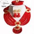 Африканские Бусы Комплект Ювелирных Изделий Красный Непрозрачный AL020