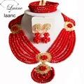Beads africanos Joyería Conjunto Rojo Opaco AL020