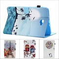 Fashion Flower Tree Owl Card Slot Pu leather stand holder Cover Case For Samsung Galaxy Tab A 10.1 T585 T580 SM-T580 T580N + pen