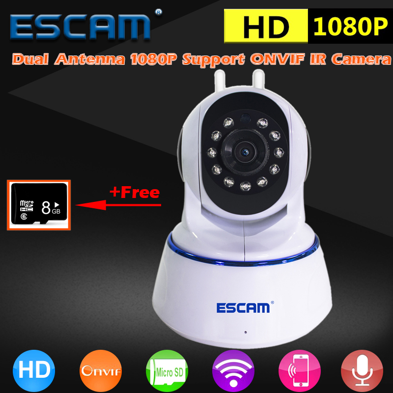 Buy ESCAM IP Camera HD 1080P 2MP Wireless Day Night Vision P2P Wifi Home Infrared Security Surveillance CCTV Mini Dome Camera QF003