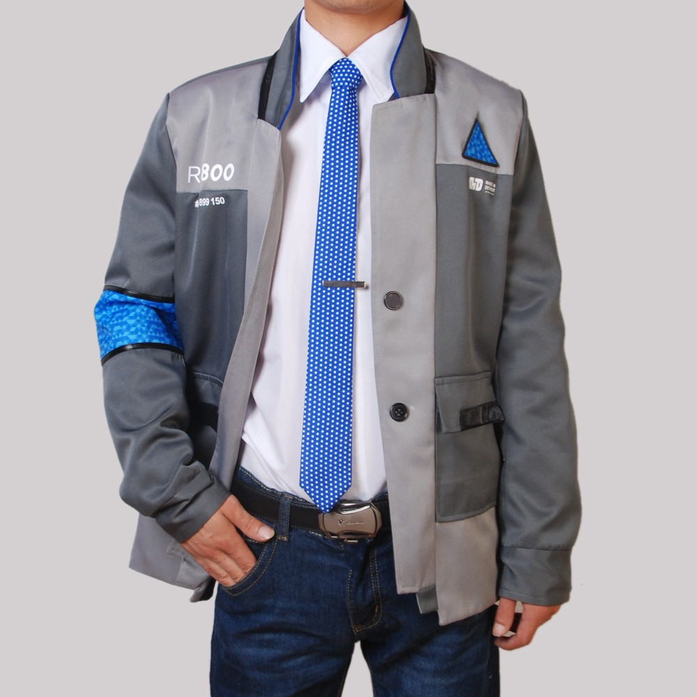 Detroit Become Human Cosplay Suit Connor Cos Jacket RK800 Agent Coat Tie Set Halloween Cos Costumes Carnival Disguisment