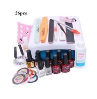 Nail Art Manicure 36W UV Lamp With 7 5ml Nail Gel Polish Base Gel Top Coat