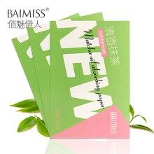 Абсорбирующая бумага для лица BAIMISS Matcha, очищающее средство для лица, средство для удаления черных точек, средство для лечения акне, косметические средства для лица, 3 шт
