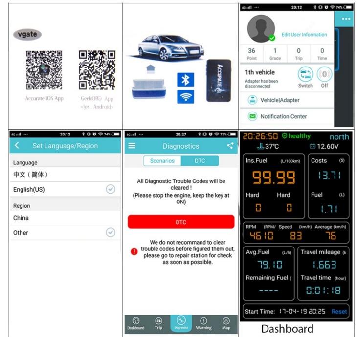Vendas quentes ---- 100 pçs / lote Vgate iCar pro Bluetooth ELM327 4 0 /  WIFI OBD2 Scanner de Diagnóstico Do Carro Para Android / IOS com DHL frete