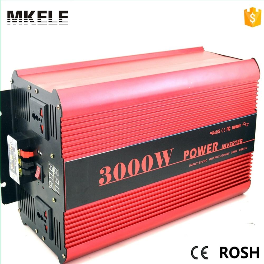 цена на MKP3000-121R 3000w 12v power inverter 12v 220v inversor power inverter 12v inverter pure sine wave voltage converter