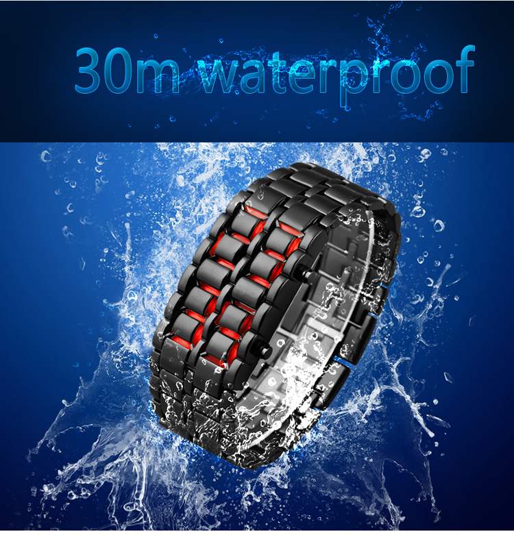 Aidis youth sports watches waterproof electronic second generation binary LED digital men's watch alloy wrist strap watch 17