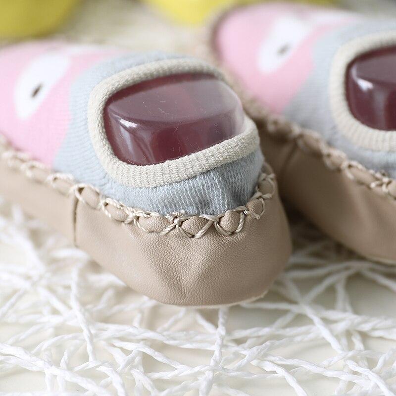 New Spring Baby Socks Children Infant Cartoon Socks Baby Gift Kids Indoor Floor Socks Leather Sole Non-Slip Thick Towel Socks