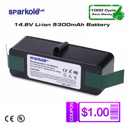 SPARKOLE New Version 5.3Ah 14.8V Li-ion Battery for iRobot Roomba 500 600 700 800 Series 510 530 550 560 620 630 650 880 770 780