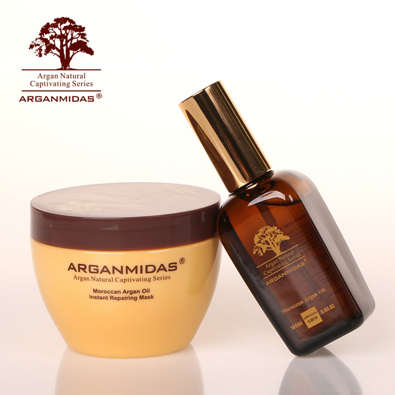 Arganmidas Moroccan Hair OIL 300ml Hair mask 100ml ARGAN OIL repair hair product best product масло kativa morocco argan oil nuspa масло