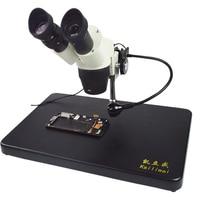 Бинокулярный микроскоп мобильный телефон ремонт материнская плата HD электронный промышленный микроскоп 20X 40X