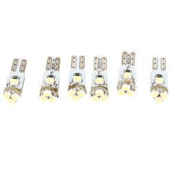 6 шт. T5 3020 белый 5 светодиодный приборной панели лампы Габаритные огни лампы внутренний