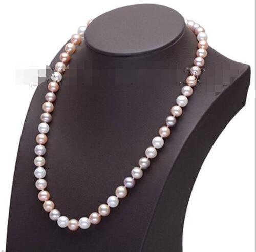 LIVRAISON gratuite>>>>>> 2015 Nouveau femmes jewerly 8-9mm Blanc AAA Grade Akoya Perle collier s772 nouveau