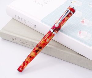 Image 2 - Fuliwen Celluloid Rollerball עט עם מילוי, עלה אדר כתום אדום אופנה כתיבה עט עסקי משרד בית ספר