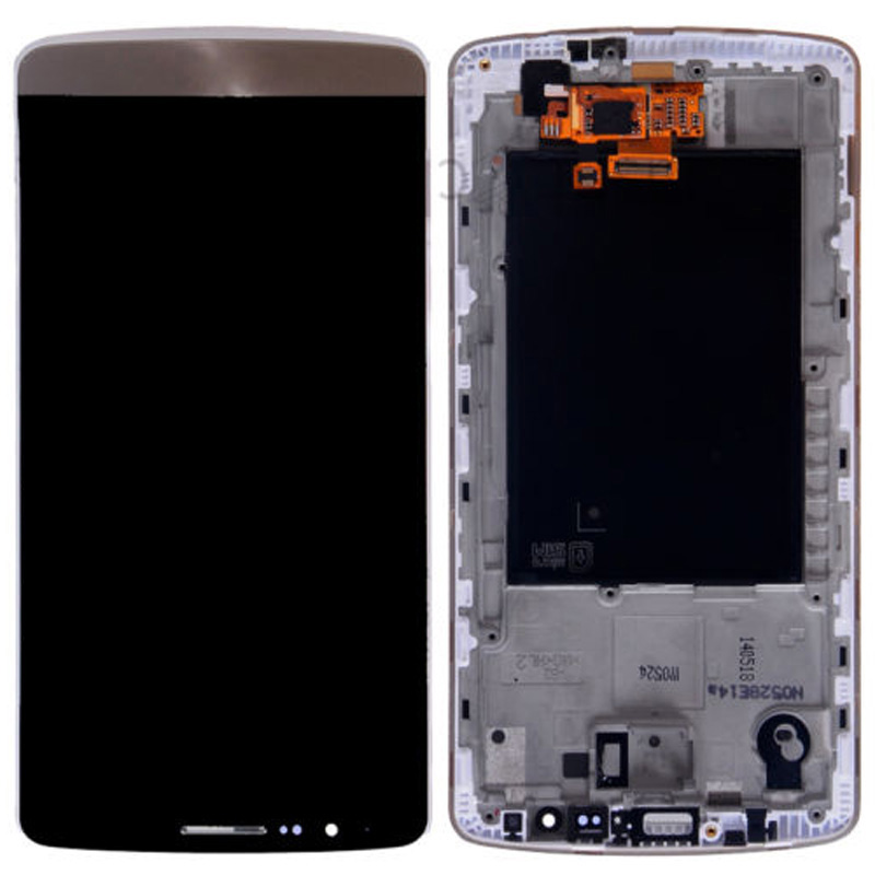 Golden LCD Display Touch Screen Glass Digitizer Assembly For LG G3 with frame