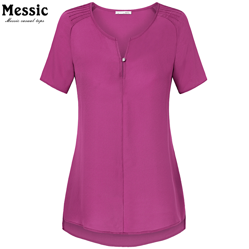 New summer women blouses v neck short sleeve casual cool for Cool long sleeve button up shirts