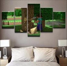 Minecraft Game 5 Pieces Print Poster Canvas Painting Wall Art Living Room Modern HD Printed