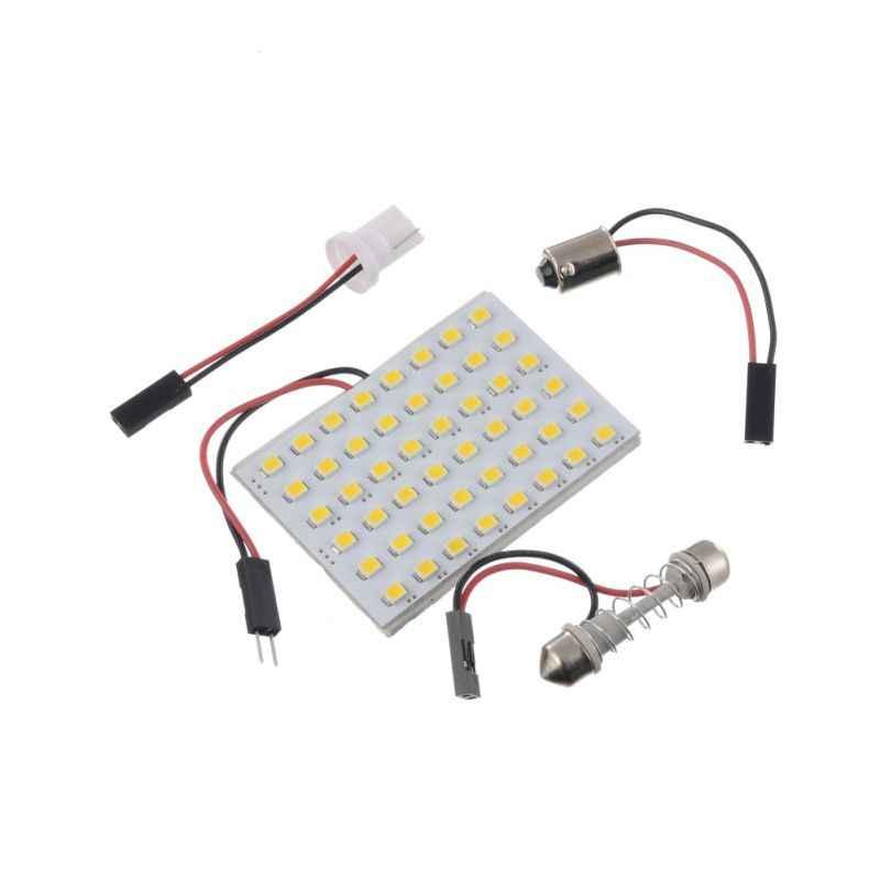 Mobil LED Mobil Lampu Lampu Papan 1210/3528 48SMD LED Mobil Lampu Baca (dengan 3 Adaptor T10, BA9S, double Tip)