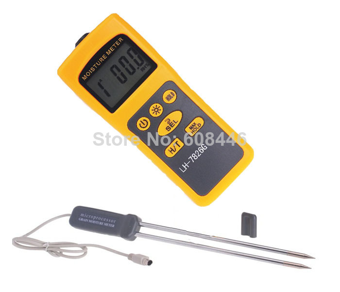 Hygrometers professional Hot Specialized grain moisture meter temper ature FOR Corn Paddy Wheat 16 kinds humidity
