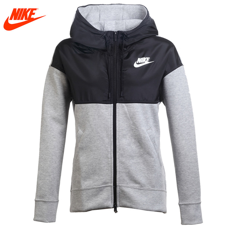 Official Nike women's spring knitted outdoor sports jacket 829408-063-010 kansa k 063 outdoor sports elastic ankle support guard protector white