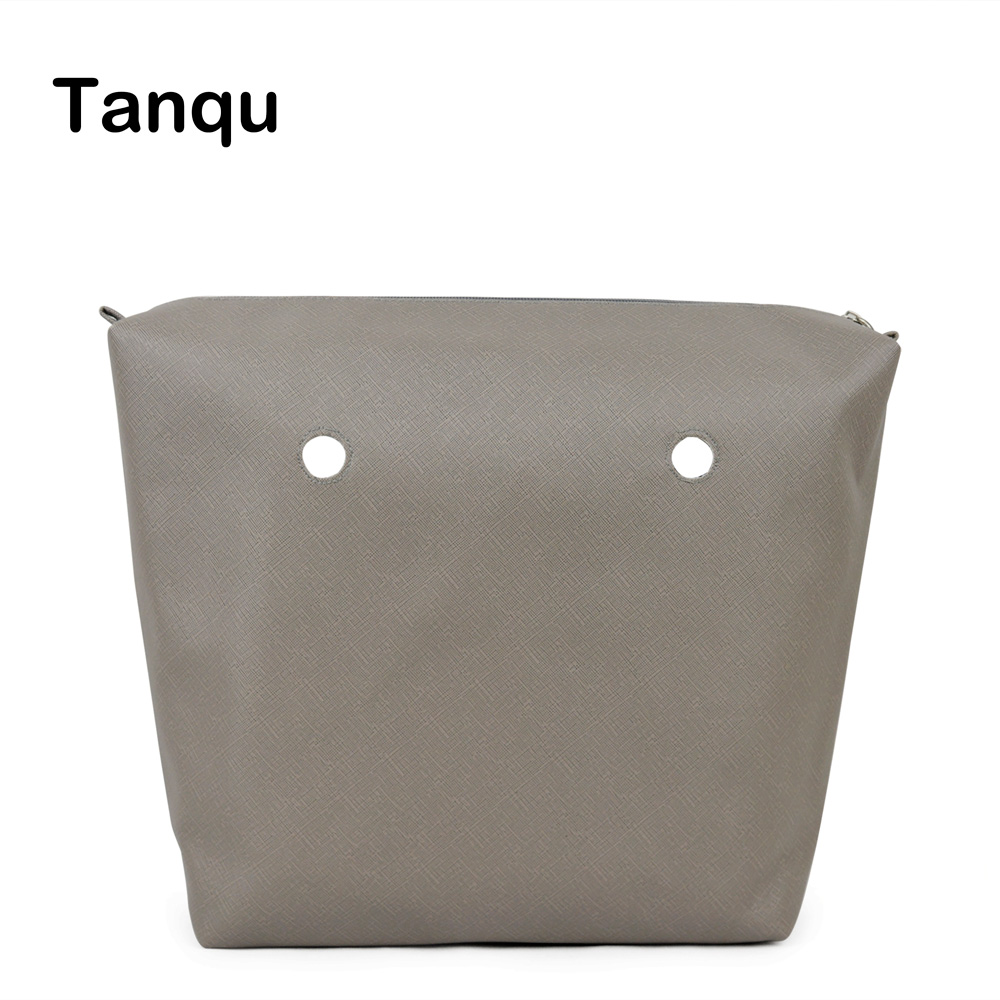 TANQU PU leather Waterproof Inner Lining Zipper Pocket for Obag Classic Mini Lining Insert for O BAG tanqu new mini floral print pu leather lining waterproof insert zipper inner pocket for mini obag eva o bag women handbag