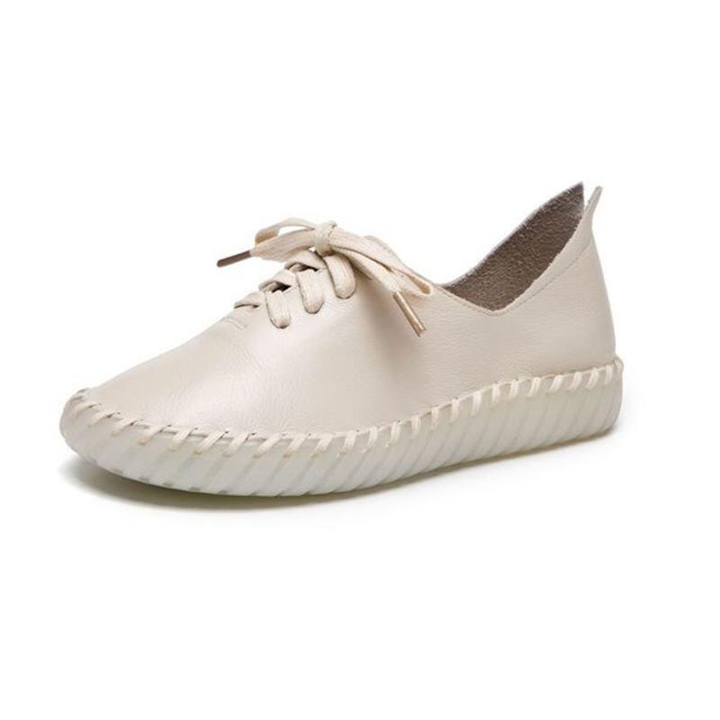 Main Confortable Casual Ronde Cousu noir pourpre Solide Chaussures Beige Dentelle 2018 Couleur Nouveau Chaussures Doux Plat qw8xWSg
