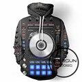 ALMOSUN Vinilo DJ Music Studio 3D Todo de Impresión Pullover Hoodies Hip Hop Jumper Casual Hipster Hombres de Ropa Deportiva de Las Mujeres