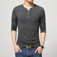 Fashion Mens Slim Fit Long Sleeve T Shirts Stylish Luxury Men T Shirt Tops Tee