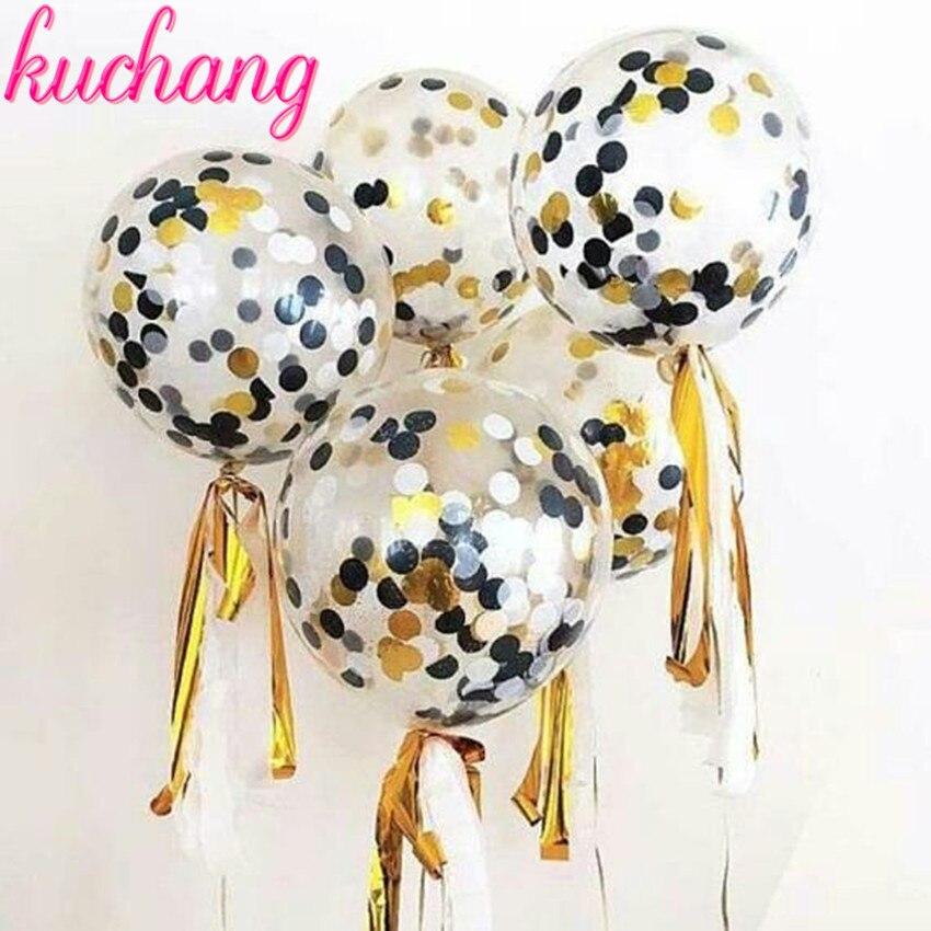 "10pcs 12/"" Confetti Latex Balloons Wedding Birthday Party Baby Shower Decoration"